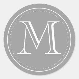 Charcoal Monogram Envelope Seal by Origami Prints
