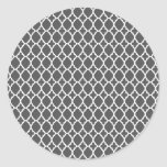 Charcoal Moroccan Tile Stickers