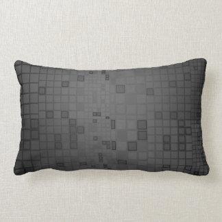 Charcoal Mosaic Pillow Lumbar