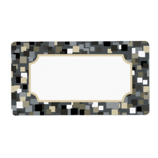 Charcoal Mosaic Style Labels