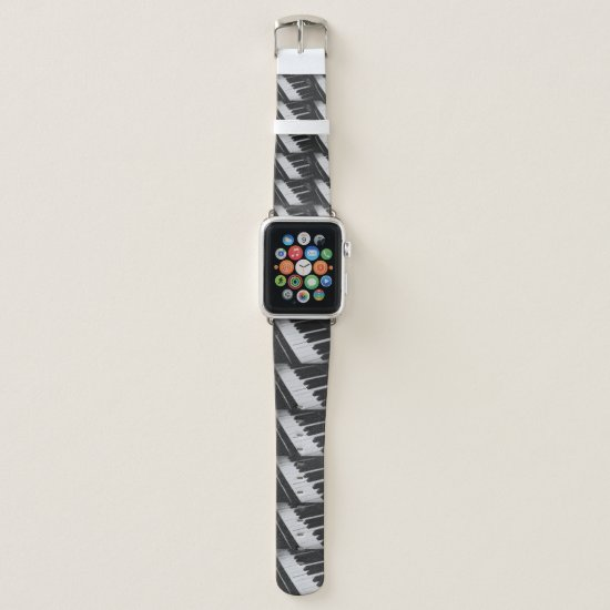 charcoal  music watch apple watch band