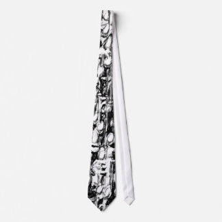 Charcoal notes tie