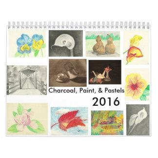 Charcoal, Paint, and Pastels Calendar