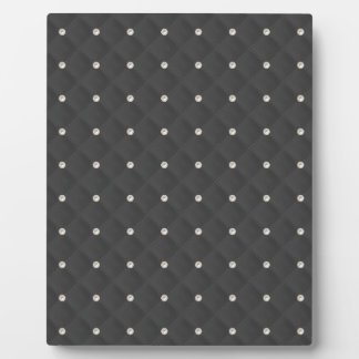 Charcoal Pearl Stud Quilted Display Plaques