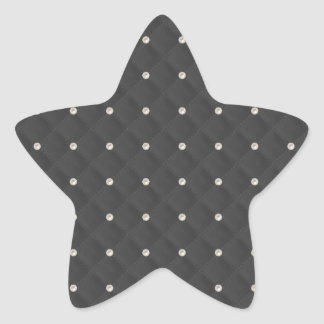 Charcoal Pearl Stud Quilted Star Sticker
