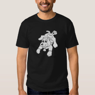 Charcoal Pencil Dog T Shirt