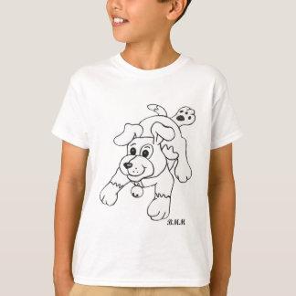 Charcoal Pencil Dog T-Shirt