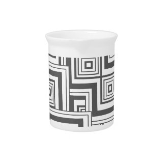 Charcoal Puzzle Beverage Pitcher