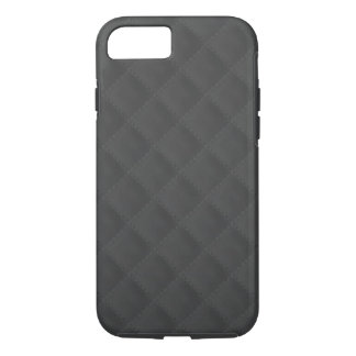 Charcoal Quilted Leather iPhone 7 Case