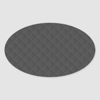 Charcoal Quilted Leather Oval Sticker