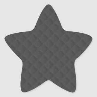 Charcoal Quilted Leather Star Sticker