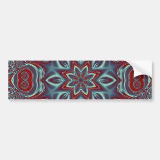 Charcoal-Red Mandala Bumper Sticker