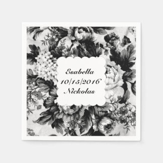 Charcoal Rose Wedding Suite-Save the Date Napkin