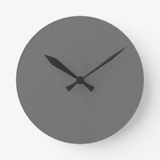 Charcoal Round Clock