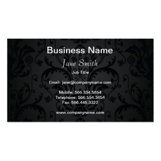 Charcoal Seamless Floral Business Card