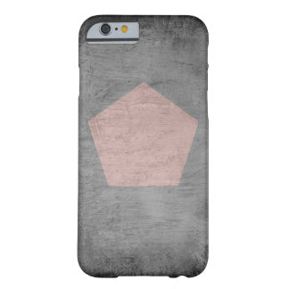 Charcoal Smudge with Pink Pentagon - Phone Case