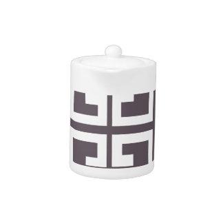 Charcoal Spanish Tile Teapot
