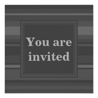 Charcoal Stripes invitation