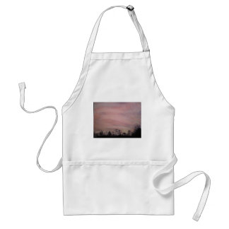 Charcoal Sunset over trees Adult Apron
