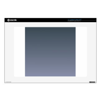 """Charcoal to Cool Gray Horizontal Gradient 15"""" Laptop Decal"""