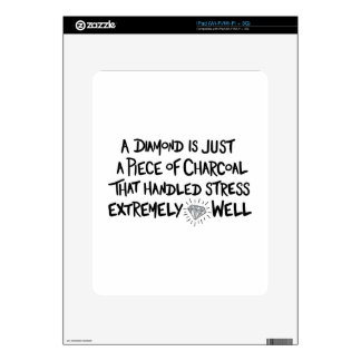 charcoal to Diamond iPad Decal