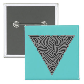 Charcoal Triangle Knot Square Button