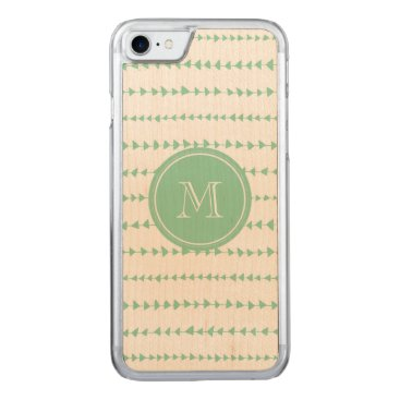 Aztec Themed charcoal White Aztec Arrows Monogram Carved iPhone 7 Case