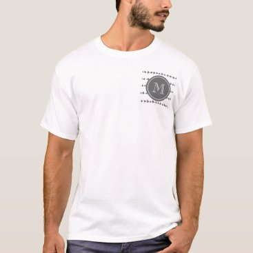 Aztec Themed Charcoal White Aztec Arrows Monogram T-Shirt