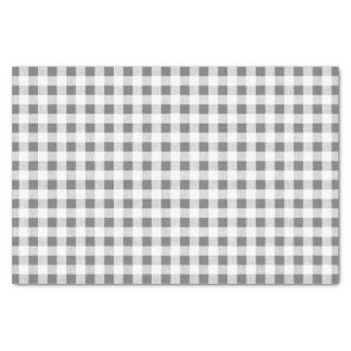 "Charcoal White Gingham Pattern 10"" X 15"" Tissue Paper"