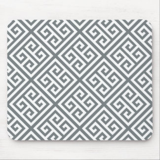 Charcoal White Med Greek Key Diag T Pattern #1 Mouse Pad