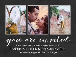 photo collage wedding invitations zazzle