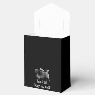 Charcoal Wildflower Wedding Favor Box