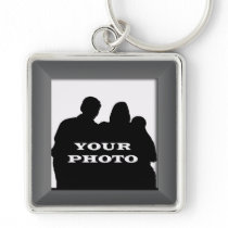 Charcoal Your Photo Frame Premium Keychain