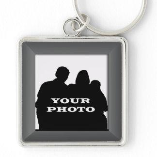 Charcoal Your Photo Frame Premium Keychain