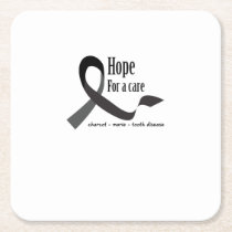 Charcot Marie Tooth Fighting Support Square Paper Coaster