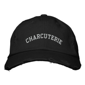 charcuterie embroidered hats