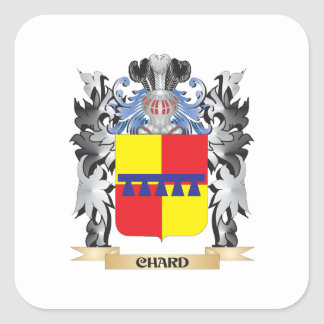Chard Coat of Arms - Family Crest Square Sticker