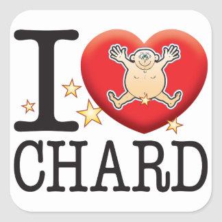 Chard Love Man Square Sticker