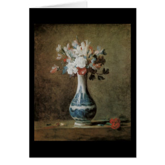 Chardin Flowers in a blue vase Greeting Card