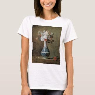 Chardin Flowers in a blue vase T-Shirt