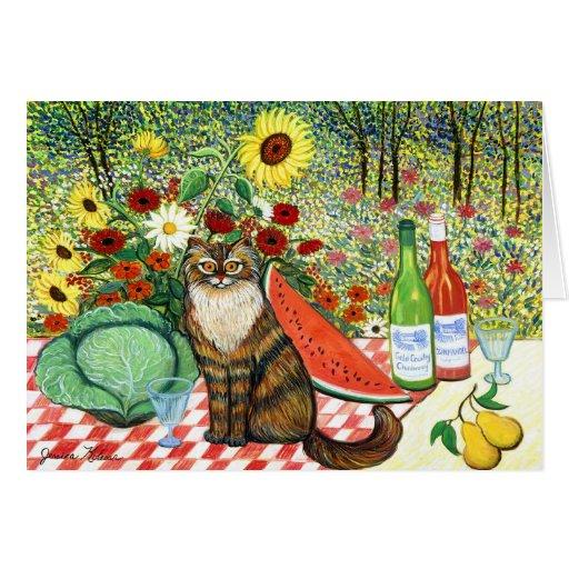 Chardonay Cat Card