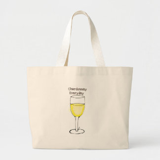 CHARDONNAY EVERYDAY WINE PRINT BY JILL LARGE TOTE BAG