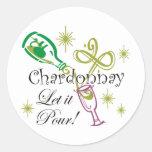 Chardonnay, Let it Pour Sticker