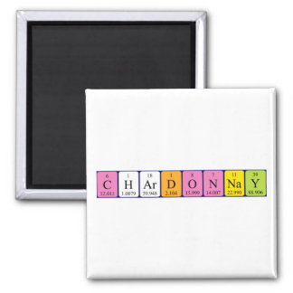 Chardonnay periodic table name magnet