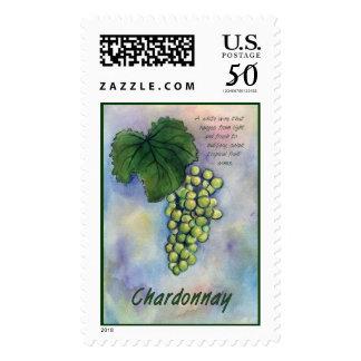 Chardonnay White Wine Postage Stamp