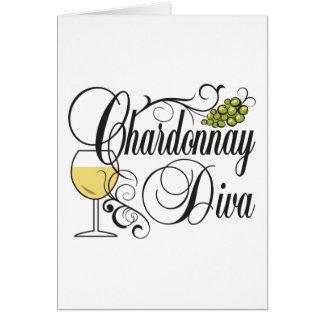 Chardonnay Wine Diva Greeting Card