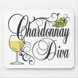 Chardonnay Wine Diva Mouse Pad
