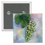 Chardonnay Wine Grapes Button