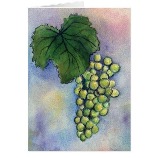 Chardonnay Wine Grapes Card