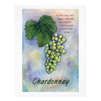 Chardonnay Wine Grapes & Description Letterhead